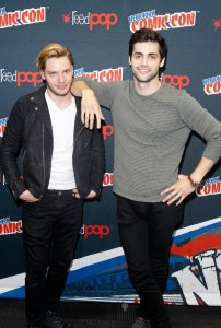 """SHADOWHUNTERS - The cast and producers of Freeform's """"Shadowhunters,"""" are featured at the COMIC CON Convention at the Jacob Javits Center in New York City on October 8, 2016. (ABC/Freeform) DOMINIC SHERWOOD, MATTHEW DADDARIO"""
