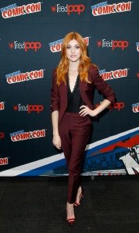 "SHADOWHUNTERS - The cast and producers of Freeform's ""Shadowhunters,"" are featured at the COMIC CON Convention at the Jacob Javits Center in New York City on October 8, 2016. (ABC/Freeform) KATHERINE MCNAMARA"