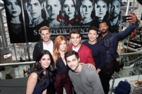 "SHADOWHUNTERS - The cast and producers of Freeform's ""Shadowhunters,"" are featured at the COMIC CON Convention at the Jacob Javits Center in New York City on October 8, 2016. (ABC/Lou Rocco) EMERAUDE TOUBIA, DOMINIC SHERWOOD, KATHERINE MCNAMARA, MATTHEW DADDARIO, ALBERTO ROSENDE, ISAIAH MUSTAFA"