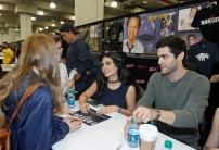 "SHADOWHUNTERS - The cast and producers of Freeform's ""Shadowhunters,"" are featured at the COMIC CON Convention at the Jacob Javits Center in New York City on October 8, 2016. (Freeform/Lou Rocco) FANS, EMERAUDE TOUBIA, MATTHEW DADDARIO"