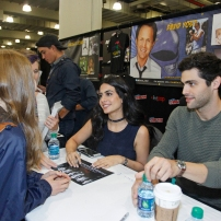 """SHADOWHUNTERS - The cast and producers of Freeform's """"Shadowhunters,"""" are featured at the COMIC CON Convention at the Jacob Javits Center in New York City on October 8, 2016. (Freeform/Lou Rocco) FANS, EMERAUDE TOUBIA, MATTHEW DADDARIO"""