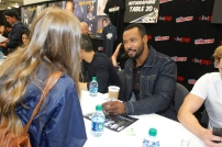 "SHADOWHUNTERS - The cast and producers of Freeform's ""Shadowhunters,"" are featured at the COMIC CON Convention at the Jacob Javits Center in New York City on October 8, 2016. (Freeform/Lou Rocco) FANS, ISAIAH MUSTAFA"