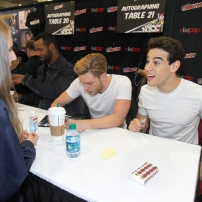 """SHADOWHUNTERS - The cast and producers of Freeform's """"Shadowhunters,"""" are featured at the COMIC CON Convention at the Jacob Javits Center in New York City on October 8, 2016. (Freeform/Lou Rocco) FANS, ALBERTO ROSENDE, DOMINIC SHERWOOD"""