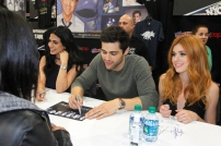 """SHADOWHUNTERS - The cast and producers of Freeform's """"Shadowhunters,"""" are featured at the COMIC CON Convention at the Jacob Javits Center in New York City on October 8, 2016. (Freeform/Lou Rocco) FANS, EMERAUDE TOUBIA, MATTHEW DADDARIO, KATHERINE MCNAMARA"""