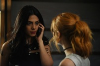 """SHADOWHUNTERS - Everyone is on the hunt for Jace, but all for their own reasons in """"Parabatai Lost,"""" an all new episode of """"Shadowhunters,"""" airing MONDAY, JANUARY 16 (8:00 – 9:00 PM EDT) on Freeform. (Freeform/John Medland) EMERAUDE TOUBIA"""