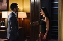 """SHADOWHUNTERS - Everyone is on the hunt for Jace, but all for their own reasons in """"Parabatai Lost,"""" an all new episode of """"Shadowhunters,"""" airing MONDAY, JANUARY 16 (8:00 – 9:00 PM EDT) on Freeform. (Freeform/John Medland) NICK SAGAR, EMERAUDE TOUBIA"""