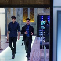 """SHADOWHUNTERS - """"Day of Wrath"""" - No one is safe when the Shadowhunters come up against a new kind of demon in """"Day of Wrath,"""" an all new episode of """"Shadowhunters,"""" airing MONDAY, JANUARY 23 (8:00 – 9:00 PM EDT) on Freeform. (Freeform/ Ben Mark Holzberg) MATTHEW DADDARIO, HARRY SHUM JR."""