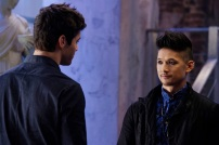"SHADOWHUNTERS - ""Day of Wrath"" - No one is safe when the Shadowhunters come up against a new kind of demon in ""Day of Wrath,"" an all new episode of ""Shadowhunters,"" airing MONDAY, JANUARY 23 (8:00 – 9:00 PM EDT) on Freeform. (Freeform/ Ben Mark Holzberg) MATTHEW DADDARIO, HARRY SHUM JR."