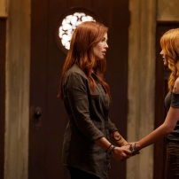 """SHADOWHUNTERS - """"Day of Wrath"""" - No one is safe when the Shadowhunters come up against a new kind of demon in """"Day of Wrath,"""" an all new episode of """"Shadowhunters,"""" airing MONDAY, JANUARY 23 (8:00 – 9:00 PM EDT) on Freeform. (Freeform/ Ben Mark Holzberg) MAXIM ROY, KATHERINE MCNAMARA"""