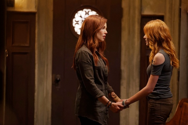 "SHADOWHUNTERS - ""Day of Wrath"" - No one is safe when the Shadowhunters come up against a new kind of demon in ""Day of Wrath,"" an all new episode of ""Shadowhunters,"" airing MONDAY, JANUARY 23 (8:00 – 9:00 PM EDT) on Freeform. (Freeform/ Ben Mark Holzberg) MAXIM ROY, KATHERINE MCNAMARA"