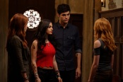 "SHADOWHUNTERS - ""Day of Wrath"" - No one is safe when the Shadowhunters come up against a new kind of demon in ""Day of Wrath,"" an all new episode of ""Shadowhunters,"" airing MONDAY, JANUARY 23 (8:00 – 9:00 PM EDT) on Freeform. (Freeform/ Ben Mark Holzberg) MAXIM ROY, EMERAUDE TOUBIA, MATTHEW DADDARIO, KATHERINE MCNAMARA"