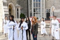 """SHADOWHUNTERS - """"Iron Sisters"""" - Clary and Isabelle head to The Citadel looking for answers in """"Iron Sisters,"""" an all new episode of """"Shadowhunters,"""" airing MONDAY, FEBRUARY 6 (8:00 – 9:00 PM EDT) on Freeform. (Freeform/John Medland) LISA BERRY, FARAH MERANI, EMERAUDE TOUBIA, KATHERINE MCNAMARA"""