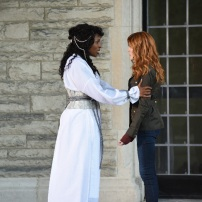 """SHADOWHUNTERS - """"Iron Sisters"""" - Clary and Isabelle head to The Citadel looking for answers in """"Iron Sisters,"""" an all new episode of """"Shadowhunters,"""" airing MONDAY, FEBRUARY 6 (8:00 – 9:00 PM EDT) on Freeform. (Freeform/John Medland) LISA BERRY, KATHERINE MCNAMARA"""
