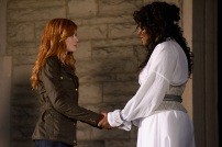 """SHADOWHUNTERS - """"Iron Sisters"""" - Clary and Isabelle head to The Citadel looking for answers in """"Iron Sisters,"""" an all new episode of """"Shadowhunters,"""" airing MONDAY, FEBRUARY 6 (8:00 – 9:00 PM EDT) on Freeform. (Freeform/John Medland) KATHERINE MCNAMARA, LISA BERRY"""