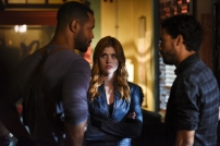"""SHADOWHUNTERS - """"How Are Thou Fallen"""" - Clary and Luke find themselves at odds over Cleo in """"How Are Thou Fallen,"""" an all new episode of """"Shadowhunters,"""" airing MONDAY, FEBRUARY 13 (8:00 – 9:00 PM EDT) on Freeform. (Freeform/John Medland) ISAIAH MUSTAFA, KATHERINE MCNAMARA"""