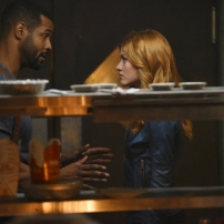 "SHADOWHUNTERS - ""How Are Thou Fallen"" - Clary and Luke find themselves at odds over Cleo in ""How Are Thou Fallen,"" an all new episode of ""Shadowhunters,"" airing MONDAY, FEBRUARY 13 (8:00 – 9:00 PM EDT) on Freeform. (Freeform/John Medland) ISAIAH MUSTAFA, KATHERINE MCNAMARA"