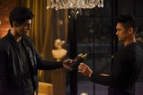 """SHADOWHUNTERS - """"How Are Thou Fallen"""" - Clary and Luke find themselves at odds over Cleo in """"How Are Thou Fallen,"""" an all new episode of """"Shadowhunters,"""" airing MONDAY, FEBRUARY 13 (8:00 – 9:00 PM EDT) on Freeform. (Freeform/John Medland) MATTHEW DADDARIO, HARRY SHUM JR."""