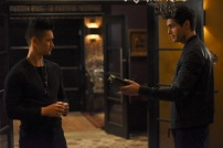 """SHADOWHUNTERS - """"How Are Thou Fallen"""" - Clary and Luke find themselves at odds over Cleo in """"How Are Thou Fallen,"""" an all new episode of """"Shadowhunters,"""" airing MONDAY, FEBRUARY 13 (8:00 – 9:00 PM EDT) on Freeform. (Freeform/John Medland) HARRY SHUM JR., MATTHEW DADDARIO"""