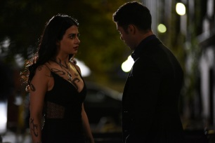 "SHADOWHUNTERS - ""Love Is a Devil"" - Max's Rune Ceremony brings everyone's fears to the forefront in ""Love Is a Devil,"" an all-new episode of ""Shadowhunters,"" airing MONDAY, FEBRUARY 20 (8:00 - 9:00 p.m. EST), on Freeform. (Freeform/John Medland) EMERAUDE TOUBIA, DAVID CASTRO"