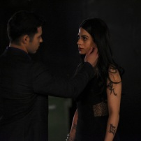"""SHADOWHUNTERS - """"Love Is a Devil"""" - Max's Rune Ceremony brings everyone's fears to the forefront in """"Love Is a Devil,"""" an all-new episode of """"Shadowhunters,"""" airing MONDAY, FEBRUARY 20 (8:00 - 9:00 p.m. EST), on Freeform. (Freeform/John Medland) DAVID CASTRO, EMERAUDE TOUBIA"""