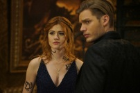 "SHADOWHUNTERS - ""Love Is a Devil"" - Max's Rune Ceremony brings everyone's fears to the forefront in ""Love Is a Devil,"" an all-new episode of ""Shadowhunters,"" airing MONDAY, FEBRUARY 20 (8:00 - 9:00 p.m. EST), on Freeform. (Freeform/Ian Watson) KATHERINE MCNAMARA, DOMINIC SHERWOOD"
