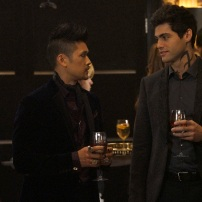 """SHADOWHUNTERS - """"Love Is a Devil"""" - Max's Rune Ceremony brings everyone's fears to the forefront in """"Love Is a Devil,"""" an all-new episode of """"Shadowhunters,"""" airing MONDAY, FEBRUARY 20 (8:00 - 9:00 p.m. EST), on Freeform. (Freeform/Ian Watson) HARRY SHUM JR., MATTHEW DADDARIO"""