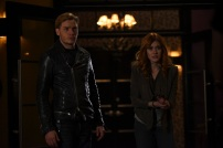 """SHADOWHUNTERS - """"Bound By Blood"""" - Clary is sidelined by Iris' blood oath, while the Downworld begins to fall apart, in """"Bound By Blood,"""" an all-new episode of """"Shadowhunters,"""" airing MONDAY, FEBRUARY 27 (8:00 - 9:01 p.m. EST), on Freeform. (Freeform/John Medland) DOMINIC SHERWOOD, KATHERINE MCNAMARA"""