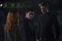 "SHADOWHUNTERS - ""By The Light Of Dawn"" - Valentine's plan is in full effect and the Shadowhunters must act fast to save the Downworld in ""By the Light of Dawn,"" the spring finale of ""Shadowhunters,"" airing MONDAY, MARCH 6 (8:00 – 9:01 p.m. EST), on Freeform. (Freeform/John Medland) DAVID CASTRO, DOMINIC SHERWOOD"