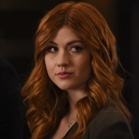 "SHADOWHUNTERS - ""By The Light Of Dawn"" - Valentine's plan is in full effect and the Shadowhunters must act fast to save the Downworld in ""By the Light of Dawn,"" the spring finale of ""Shadowhunters,"" airing MONDAY, MARCH 6 (8:00 – 9:01 p.m. EST), on Freeform. (Freeform/John Medland) KATHERINE MCNAMARA"