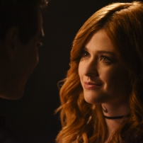 "SHADOWHUNTERS - ""Mea Maxima Culpa"" - Everyone is dealing with the aftermath of the Soul Sword attack at the Institute in ÒMea Maxima Culpa,Ó the summer premiere of ÒShadowhunters,Ó airing MONDAY, JUNE 5 (8:00 - 9:00 PM EDT) on Freeform and on the Freeform app. (Freeform/John Medland) KATHERINE MCNAMARA"