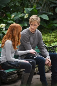 "SHADOWHUNTERS - ""You Are Not Your Own"" - After several Shadowhunters are killed, The Institute turns to controversial methods to prevent a Downworlder uprising in ÒYou Are Not Your Own,Ó an all-new episode of ÒShadowhunters,Ó airing Monday, June 12 (8:00 - 9:00 PM EDT) on Freeform and on the Freeform app. (Freeform/John Medland) KATHERINE MCNAMARA, WILL TUDOR"