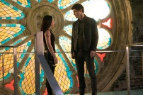 """SHADOWHUNTERS - """"A Problem with Memory"""" - Simon goes down a dark path while Alec and team prepares to transport Valentine in ÒA Problem of Memory,Ó an all-new episode of """"Shadowhunters"""" airing Monday, July 10th at 8:00 - 9:00 PM ET/PT. (Freeform/Ian Watson) EMERAUDE TOUBIA, MATTHEW DADDARIO"""