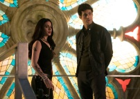 "SHADOWHUNTERS - ""A Problem with Memory"" - Simon goes down a dark path while Alec and team prepares to transport Valentine in ÒA Problem of Memory,Ó an all-new episode of ""Shadowhunters"" airing Monday, July 10th at 8:00 - 9:00 PM ET/PT. (Freeform/Ian Watson) EMERAUDE TOUBIA, MATTHEW DADDARIO"