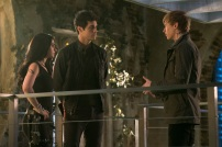 """SHADOWHUNTERS - """"A Problem with Memory"""" - Simon goes down a dark path while Alec and team prepares to transport Valentine in ÒA Problem of Memory,Ó an all-new episode of """"Shadowhunters"""" airing Monday, July 10th at 8:00 - 9:00 PM ET/PT. (Freeform/Ian Watson) EMERAUDE TOUBIA, MATTHEW DADDARIO, WILL TUDOR"""