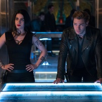 "SHADOWHUNTERS - ""A Problem with Memory"" - Simon goes down a dark path while Alec and team prepares to transport Valentine in ÒA Problem of Memory,Ó an all-new episode of ""Shadowhunters"" airing Monday, July 10th at 8:00 - 9:00 PM ET/PT. (Freeform/Ian Watson) EMERAUDE TOUBIA, DOMINIC SHERWOOD"