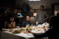 "SHADOWHUNTERS - ""Day of Atonement"" - Jace and Clary go on an unsanctioned mission, while Maia helps Simon out at a Yom Kippur family dinner in ÒDay of Atonement,Ó an all new episode of ÒShadowhuntersÓ airing on Monday, July 17th at 8:00 - 9:00 PM ET/PT. (Freeform/John Medland) ALISHA WAINWRIGHT, ALBERTO ROSENDE, PAUL WESLEY (DIRECTOR)"