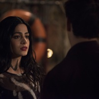 "SHADOWHUNTERS - ""A Dark Reflection"" - Clary struggles with the idea that her brother Jonathan is pure evil when it appears he is hunting down the mortal mirror for ValentineÕs use in ÒA Dark Reflection,Ó an all new episode of ÒShadowhuntersÓ airing on Monday, July 24th at 8:00 - 9:00 PM ET/PT. (Freeform/John Medland) EMERAUDE TOUBIA, ALBERTO ROSENDE"