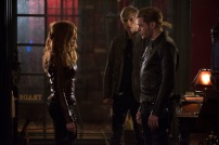 """SHADOWHUNTERS - """"A Dark Reflection"""" - Clary struggles with the idea that her brother Jonathan is pure evil when it appears he is hunting down the mortal mirror for ValentineÕs use in ÒA Dark Reflection,Ó an all new episode of ÒShadowhuntersÓ airing on Monday, July 24th at 8:00 - 9:00 PM ET/PT. (Freeform/John Medland) KATHERINE MCNAMARA, WILL TUDOR, DOMINIC SHERWOOD"""