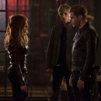 "SHADOWHUNTERS - ""A Dark Reflection"" - Clary struggles with the idea that her brother Jonathan is pure evil when it appears he is hunting down the mortal mirror for ValentineÕs use in ÒA Dark Reflection,Ó an all new episode of ÒShadowhuntersÓ airing on Monday, July 24th at 8:00 - 9:00 PM ET/PT. (Freeform/John Medland) KATHERINE MCNAMARA, WILL TUDOR, DOMINIC SHERWOOD"