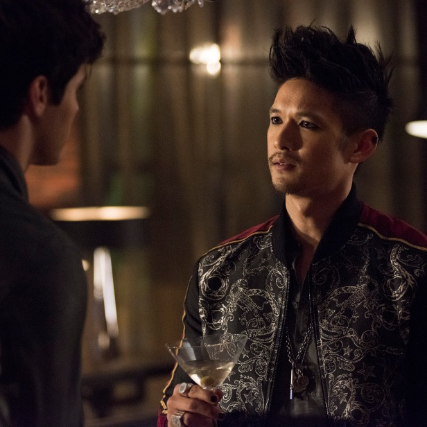"SHADOWHUNTERS - ""On Infernal Ground"" - In the season three premiere, secrets abound as the Shadowhunters and Downworlders try to get back to normal after ValentineÕs death. This episode of ""Shadowhunters"" airs Tuesday, March 20 (8:00 - 9:00 P.M. ET/PT) on Freeform. (Freeform/John Medland) MATTHEW DADDARIO, HARRY SHUM JR."