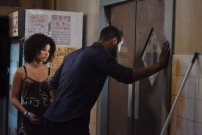 """SHADOWHUNTERS - """"On Infernal Ground"""" - In the season three premiere, secrets abound as the Shadowhunters and Downworlders try to get back to normal after ValentineÕs death. This episode of """"Shadowhunters"""" airs Tuesday, March 20 (8:00 - 9:00 P.M. ET/PT) on Freeform. (Freeform/John Medland) ALISHA WAINWRIGHT, ISAIAH MUSTAFA"""