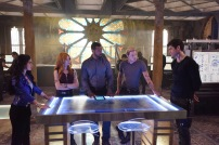 """SHADOWHUNTERS - """"On Infernal Ground"""" - In the season three premiere, secrets abound as the Shadowhunters and Downworlders try to get back to normal after ValentineÕs death. This episode of """"Shadowhunters"""" airs Tuesday, March 20 (8:00 - 9:00 P.M. ET/PT) on Freeform. (Freeform/John Medland) EMERAUDE TOUBIA, KATHERINE MCNAMARA, ISAIAH MUSTAFA, DOMINIC SHERWOOD, MATTHEW DADDARIO"""