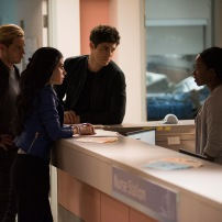 "SHADOWHUNTERS - ""On Infernal Ground"" - In the season three premiere, secrets abound as the Shadowhunters and Downworlders try to get back to normal after ValentineÕs death. This episode of ""Shadowhunters"" airs Tuesday, March 20 (8:00 - 9:00 P.M. ET/PT) on Freeform. (Freeform/John Medland) DOMINIC SHERWOOD, EMERAUDE TOUBIA, MATTHEW DADDARIO, SOPHIA WALKER"