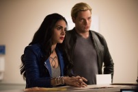 """SHADOWHUNTERS - """"On Infernal Ground"""" - In the season three premiere, secrets abound as the Shadowhunters and Downworlders try to get back to normal after ValentineÕs death. This episode of """"Shadowhunters"""" airs Tuesday, March 20 (8:00 - 9:00 P.M. ET/PT) on Freeform. (Freeform/John Medland) EMERAUDE TOUBIA, DOMINIC SHERWOOD"""