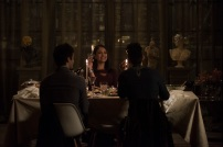 """SHADOWHUNTERS - """"What Lies Beneath"""" - The Shadowhunters try to track down the new imposing threat, while Jace has a suspicion that Jonathan is back and behind the mundane attacks. Simon tries to figure out what The Seelie Queen did to him during his time in the glade. Alec decides to host a Lightwood family dinner at MagnusÕ house after a surprising visit from Maryse. This episode of """"Shadowhunters"""" airs Tuesday, April 3 (8:00 - 9:00 p.m. EDT) on Freeform. (Freeform/John Medland) MATTHEW DADDARIO, NICOLA CORREIA-DAMUDE, HARRY SHUM JR."""