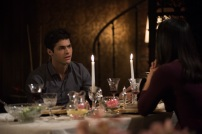 """SHADOWHUNTERS - """"What Lies Beneath"""" - The Shadowhunters try to track down the new imposing threat, while Jace has a suspicion that Jonathan is back and behind the mundane attacks. Simon tries to figure out what The Seelie Queen did to him during his time in the glade. Alec decides to host a Lightwood family dinner at MagnusÕ house after a surprising visit from Maryse. This episode of """"Shadowhunters"""" airs Tuesday, April 3 (8:00 - 9:00 p.m. EDT) on Freeform. (Freeform/John Medland) MATTHEW DADDARIO, NICOLA CORREIA-DAMUDE"""